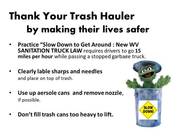 Thank a trash hauler